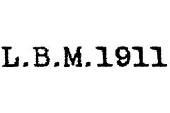 L.B.M.1911