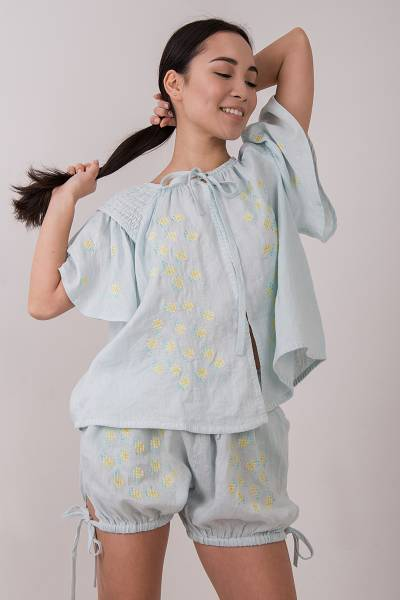 блуза innika choo smock top sea mist