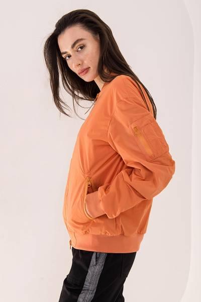куртка woolrich оранжевая