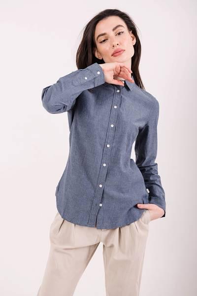 рубашка aigle из мраморного хлопка