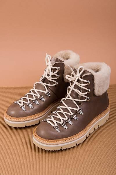 ботинки fracap m129w cortina piombo/cut white