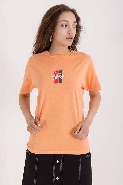 футболка stussy coral 2 bar stock tee