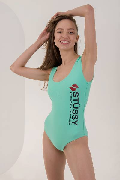 купальник stussy mint malia swim suit