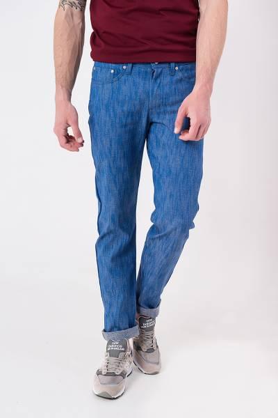 джинсы naked&famous weird guy blue storm slub