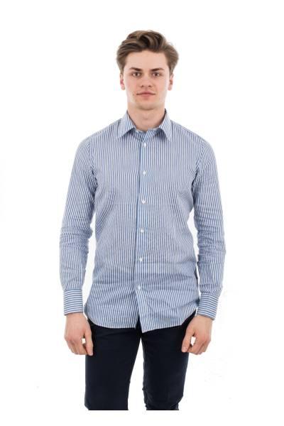 рубашка Massimo La Porta из льна, хлопка и шёлка