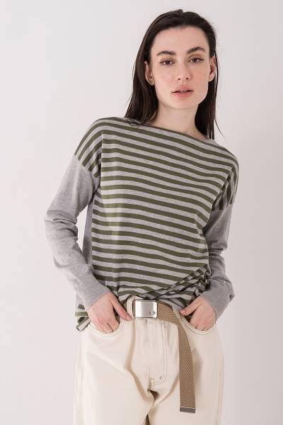кофта ma`ry`ya grey pull boat neck