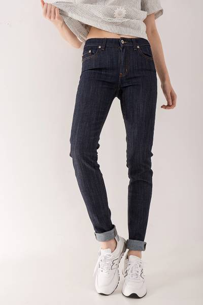 джинсы naked&famous skinny indigo power stretch