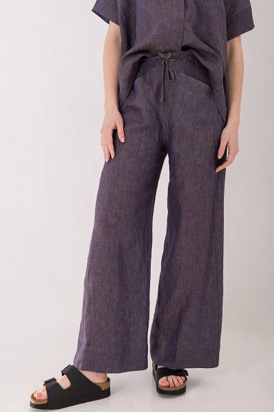 брюки tonet из льна