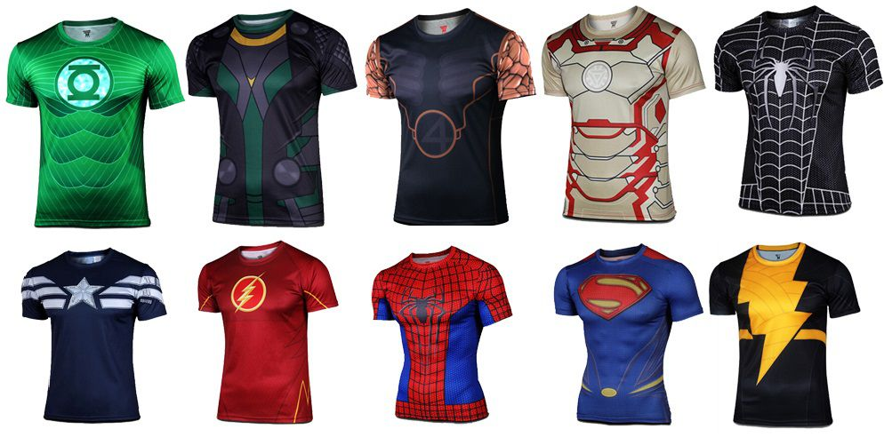 S-4XL-quick-dry-marvel-Avengers-Spider-Man-Batman-Superman-superhero-t-shirts-short-sleeves-font