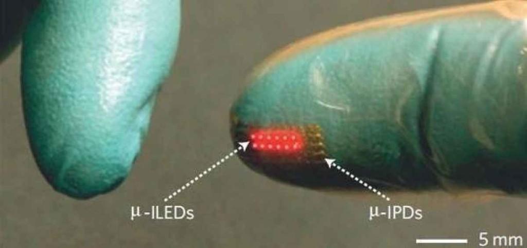 LED имплантат в действии