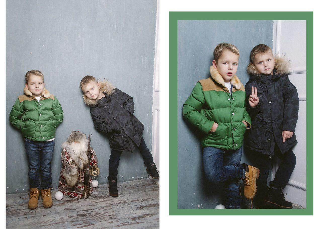 фотосессия детей в бренде woolrich