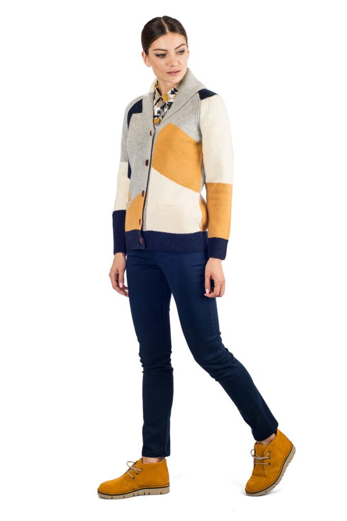 свитер с шалевым воротником