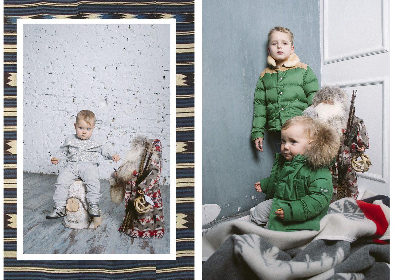 журнал Ветер представляет woolrich kids