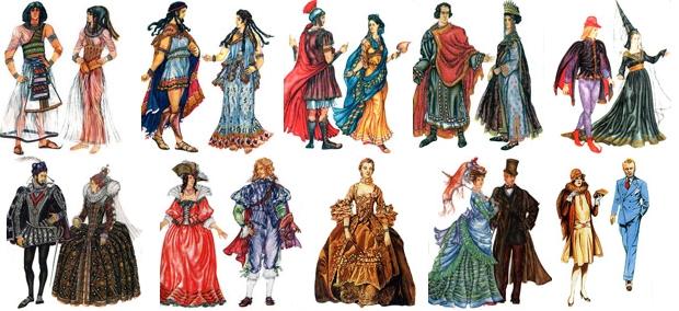 старинные костюмы