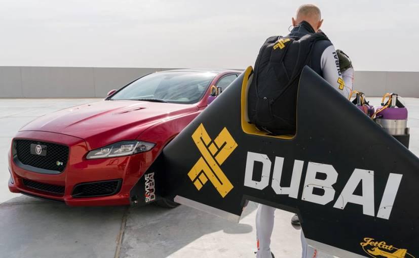 Jaguar XJR в гонке против Wing-Jetpack