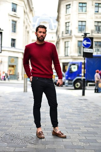 burgundy-crew-neck-sweater-black-skinny-jeans-brown-leather-tassel-loafers-large-7626