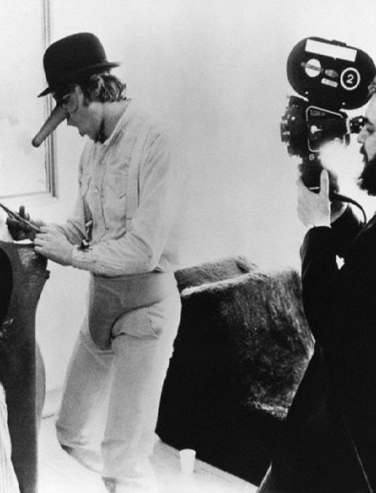 "1971 --- Director Stanley Kubrick on the set of ""Clockwork Orange"". --- Image by © Sunset Boulevard/Corbis"