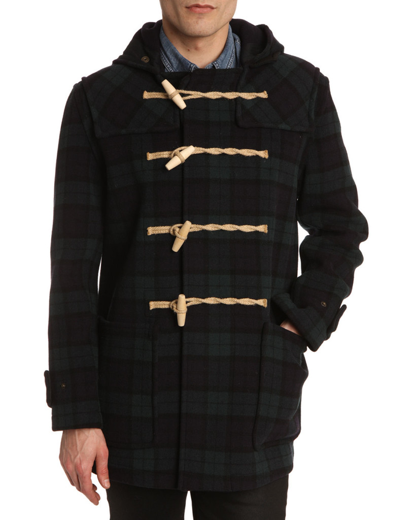 gloverall-mid-monty-navy-blue-plaid-duffle-coat